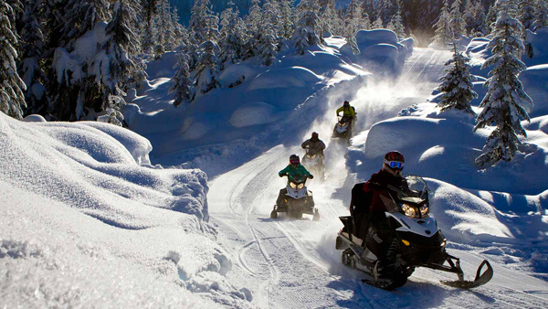 Skidoo rides in Morzine and Les Gets