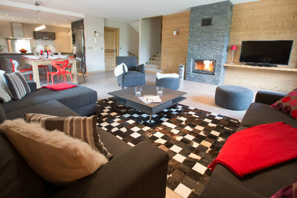 Claire Vallee living room, central Morzine
