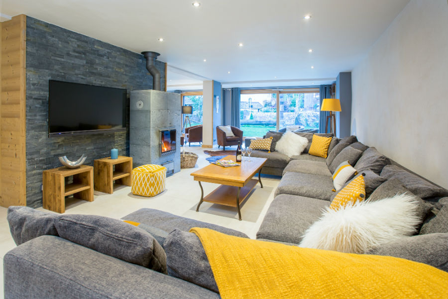 Chalet Aux Joux living room